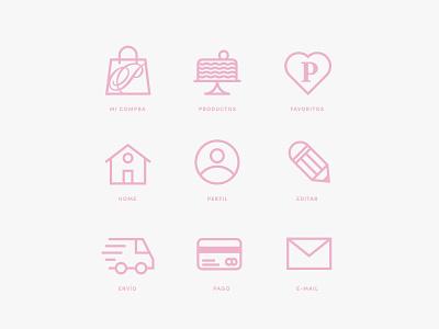 Paulette E-Commerce Icons graphic design webdesign web ux ui icons