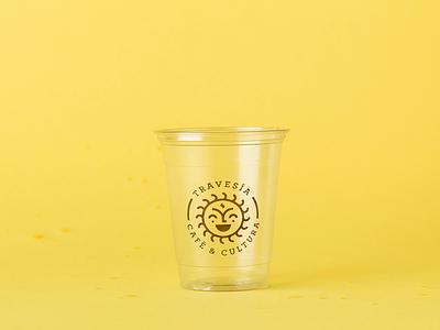 Travesía Café Logo sun logo branding coffee