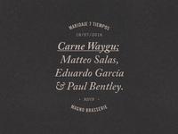 Event typography, Magno Brasserie
