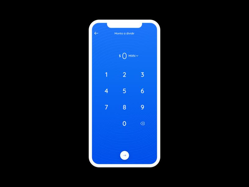 Split bill transaction payment amount ui tip fintech app bill split calculator