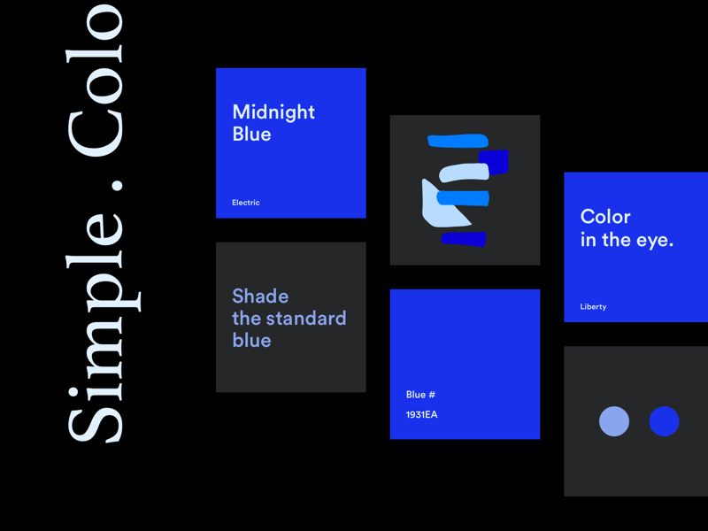 Midnight blue explore inspiration brand dark color combination black simple blue colors