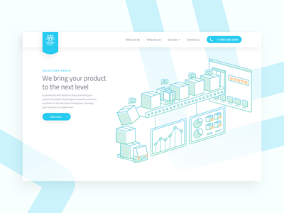 Homepage for Digital Services Website