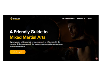 A Friendly Guide to Mixed Martial Arts freelance sports branding sports design sports logo course wordpress theme hobbyist blog sports wordpress blog ui logo branding landingpage instractor martialarts mma