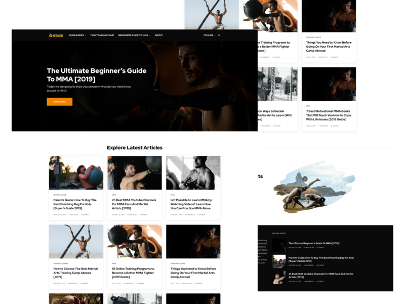 Instructor On Demand Landing Page ux branding design logo ui landing page concept affiliate amazon black branding landing page design grid blog martial arts mma sport landing  page