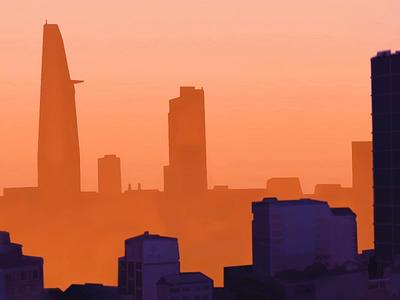 Small apartment in HCMC hcmc birds cityscape animation 2d animation