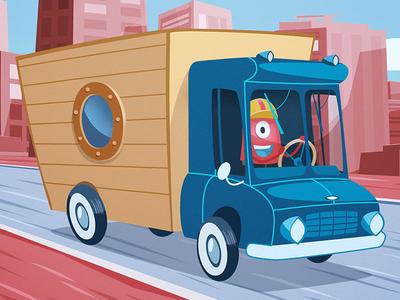 Keep an eye on the road!