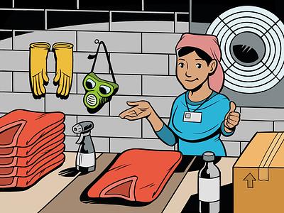 Safety gear at work garmentworker worker clipstudiopaint clip studio paint illustration