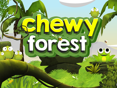 Chewy Forest : Game Cover kids game interface game design