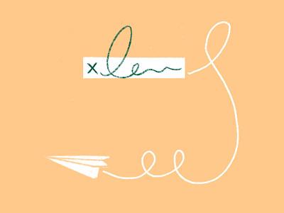 Doodles for Dropbox Social paper plane drawing design illustration