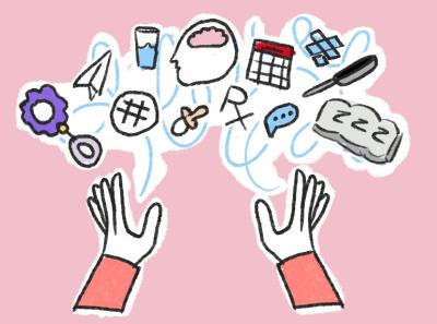 More Dropbox Internal Doodles graphicdesign juggle hands dropbox illustration sketch doodle