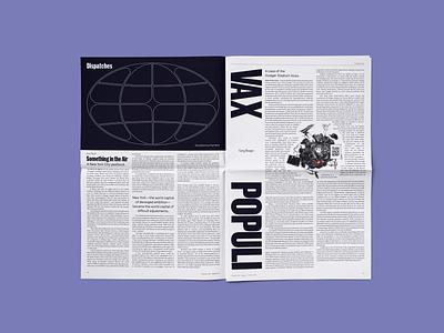 Dispatches editorial process typography type print graphic design design