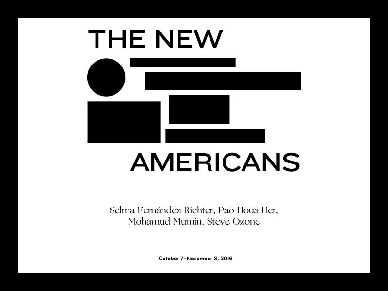 The New Americans  typography vinyl exhibition
