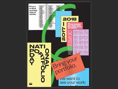 NPD flat pastel poster typography type print design print