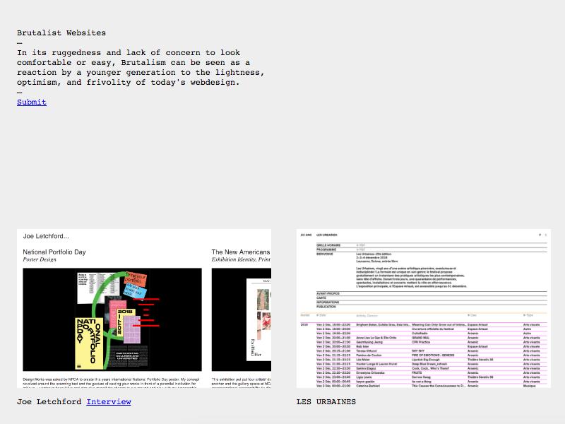Brutalist Websites Feature design brutalist websites