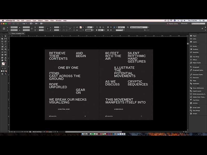 Thesis Can Take A Lap flat publication book print web design
