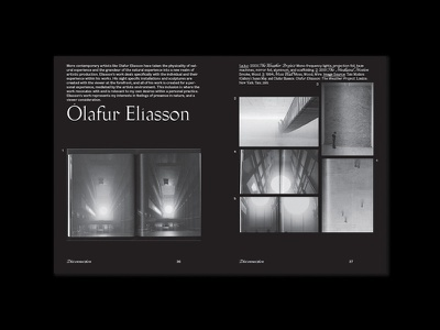 Olafur Spread typography publication thesis print design