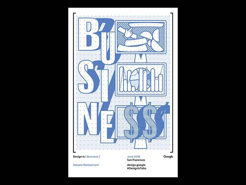 Design Is Business google print. riso template design