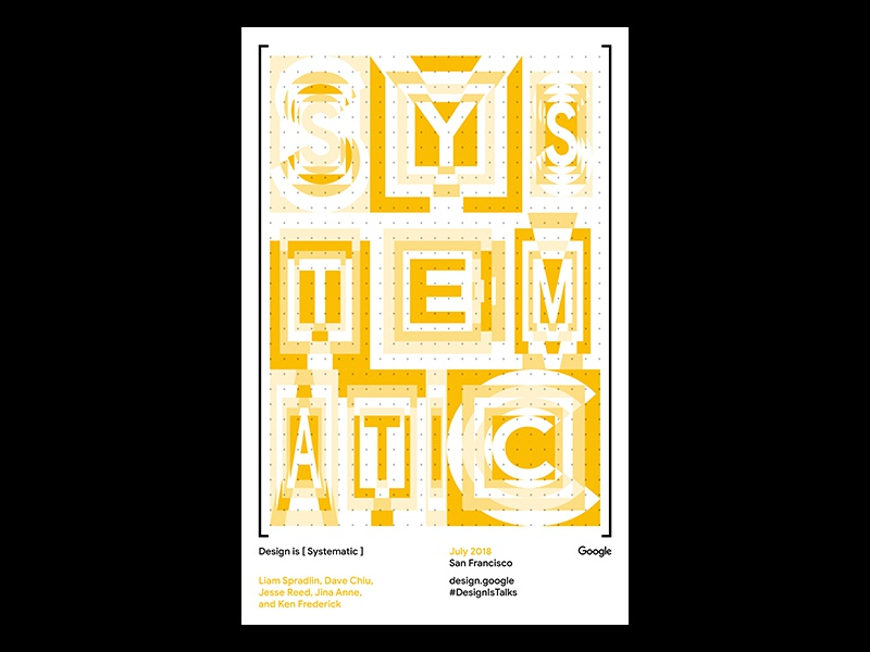 Design Is Systematic template riso print google design