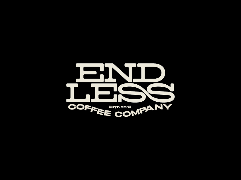 Endless Coffee co coffee type logo mcad graphic design design