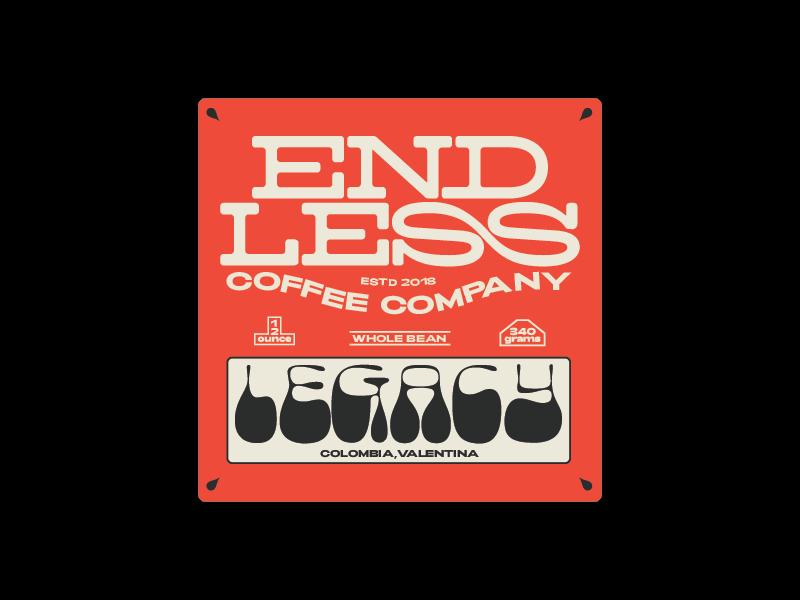 Endless Coffee co batch #1 coffee bag coffee logo type print graphic design design