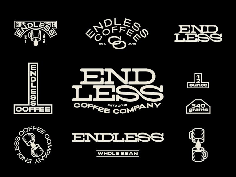 Endless Coffee co Identity typography logo coffee type print graphic design design