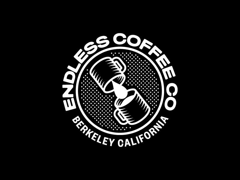 Endless Coffee co coffee shirt icon branding vector illustration process logo type typography graphic design design