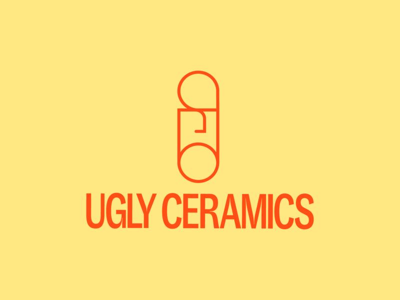 Ugly Ceramics branding process logo type typography print graphic design design