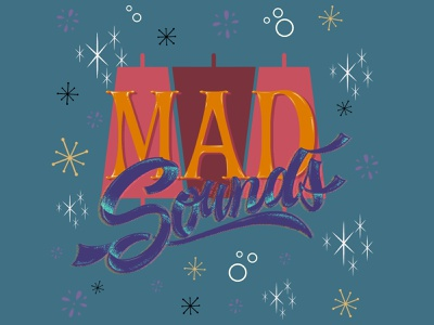MAD sounds art graphic draw letters illustration beer calligraphy letter design lettering