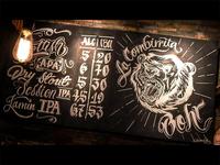 Chalkboard LA COMBIRRITA - Chaft Beer