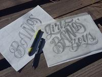 "Bocetos ""Girls Boys""  - Sketch"