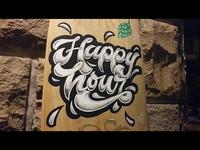 "Lettering ""Happy Hour"" - Beer Bar"
