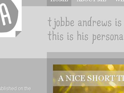 """Blog design """"teaser"""""""