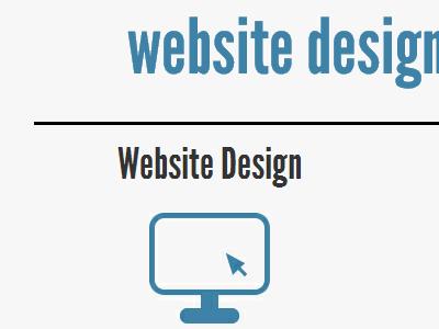 Services page detail, website design