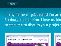 Home page portfolio re-design