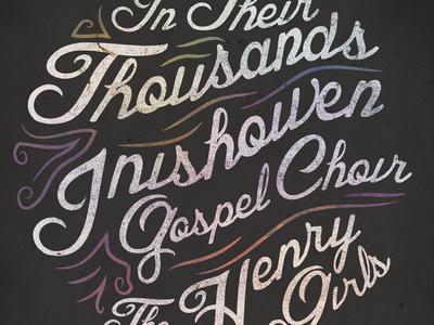 Gospel Choir Poster poster typography decay music gig choir