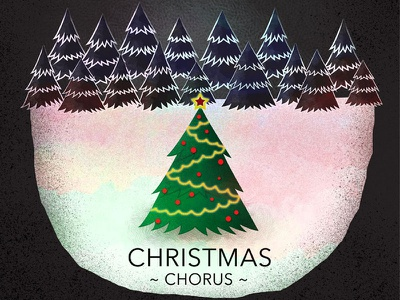 Christmas Choir choir poster design christmas snow tree singing