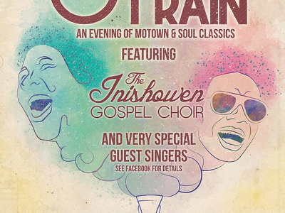 Inishowen Gospel Choir - Soul Train choir poster soul train