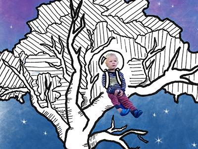 Birthday Card card illustration ink space buzz lightyear