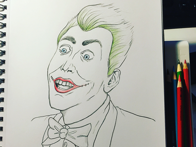 A Cagey Joker cage pencils colouring sketch drawing batman joker
