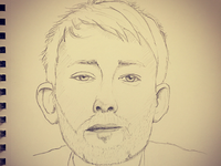 Thom Yorke sketch yorke thom radiohead pencil drawing
