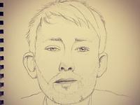 Thom Yorke sketch yorke thom radiohead pencil drawing