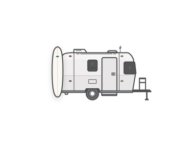 Airstream illustrations graphics trailer airstream surfboard cars surf