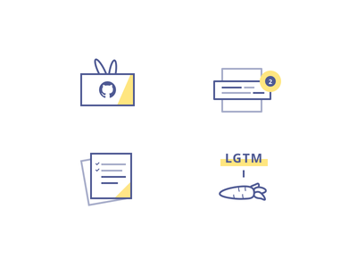Reviewable - Feature Illustrations line landing page bunny carrot code graphics homepage icons illustrations