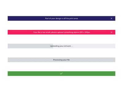 Indicators web ux ui progress status banners indicators