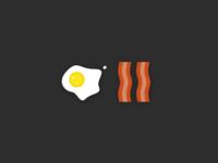 Lazy mornings got me like... art mornings breakfast icons graphic bacon egg illustrations