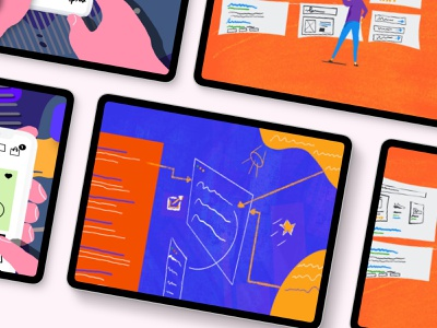 Web Development Illustrations ipad mockup design illustration