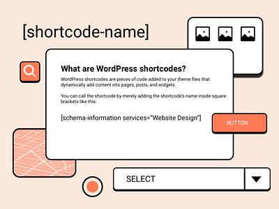 Wordpress Shortcode Illustration design browser sketch wordpress illustration