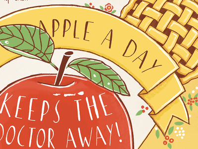 An Apple a Day tdac apple illustration recipe