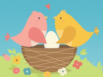 I love birds birds illustration