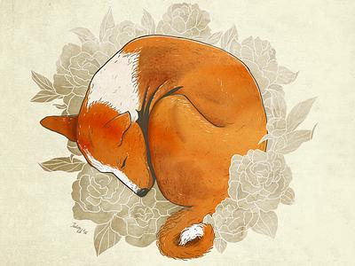 Sleeping Basenji illustration sleep basenji dog